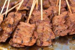 grillad thai porkstil Arkivbilder