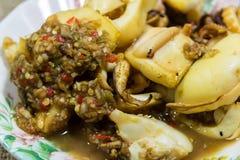 grillad tioarmad bläckfisk Royaltyfria Foton
