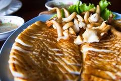 grillad tioarmad bläckfisk Fotografering för Bildbyråer