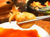 grillad tioarmad bläckfisk Royaltyfria Bilder