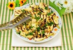 grillad zucchini Arkivbilder