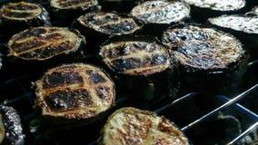 grillade aubergine Royaltyfria Bilder