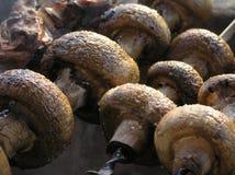 grillade champinjoner Arkivfoton