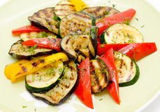 grillade grönsaker Arkivfoton