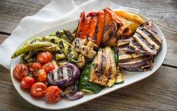 grillade grönsaker Fotografering för Bildbyråer