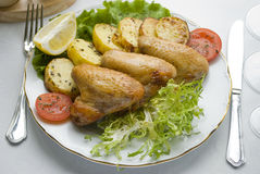 grillade grönsakvingar arkivfoton