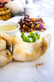 grillade havs- grönsaker Royaltyfri Fotografi