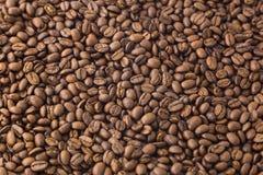 Grillade kaffebönor bakgrund och textur Fotografering för Bildbyråer