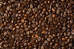 Grillade kaffebönor, kan användas som en bakgrund Royaltyfri Fotografi