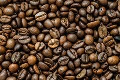 Grillade kaffebönor, kan användas som en bakgrund Makro för textur för kaffebönor Royaltyfria Bilder