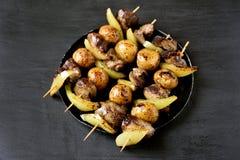 Grillade kebaber för feg lever Royaltyfri Foto