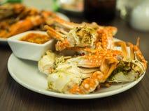Grillade krabbor Arkivbild