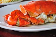 grillade krabbor som förbereds undressed royaltyfri fotografi