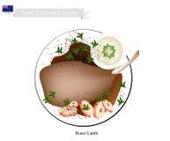Grillade lammben, den populära maträtten av Nya Zeeland stock illustrationer