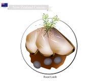 Grillade lammben, den populära maträtten av Nya Zeeland vektor illustrationer