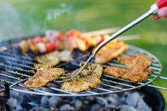 Grillade meat och grönsaker Royaltyfri Fotografi