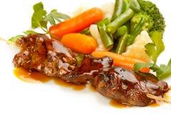 Grillade meat och grönsaker Royaltyfria Foton