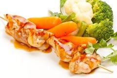 Grillade meat och grönsaker Royaltyfri Foto
