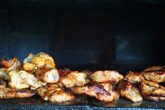 grillade meatkorvar Royaltyfria Foton