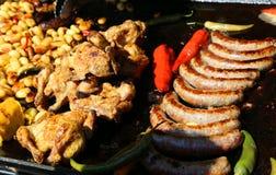 Grillade meats Royaltyfria Bilder