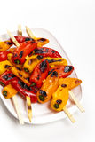 Grillade Mini Sweet Peppers royaltyfria bilder
