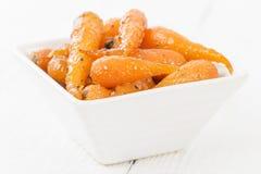 grillade morötter Arkivfoto