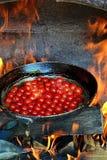 Grillade nya Cherry Tomatoes Arkivfoto