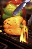 grillade peppar Arkivbild