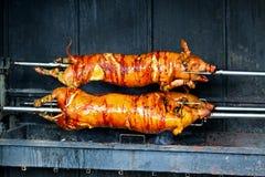 grillade pigs Arkivbild