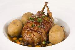 grillade quail Arkivfoton