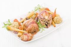 grillade quail Arkivbild
