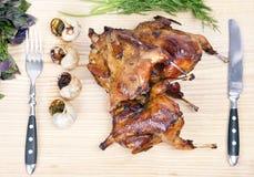 grillade quail Arkivbilder