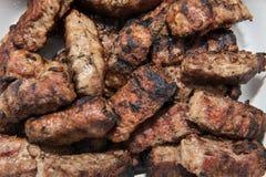grillade romanian meatrullar Arkivbild