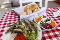 Grillade sardiner, sardin Royaltyfri Fotografi
