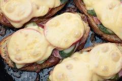 Grillade smörgåsar Arkivfoton