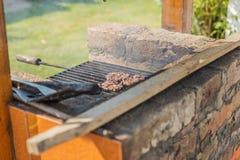 Grillade stycken av kött Royaltyfri Foto
