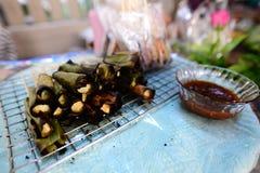 grillade tioarmad bläckfiskägg Royaltyfri Bild