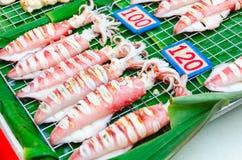 Grillade tioarmad bläckfisk Royaltyfria Foton