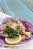 grillade tioarmad bläckfisk Royaltyfri Fotografi