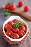 grillade tomater Arkivfoto