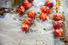 grillade tomater Arkivfoton
