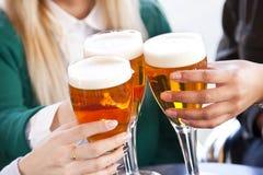 Grillage avec de la bière Photographie stock