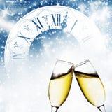 Grillage avec des verres de champagne photo stock