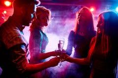 Grillage avec le champagne Image libre de droits