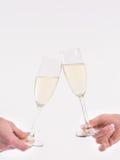 Grillage avec le verre de champagne photographie stock