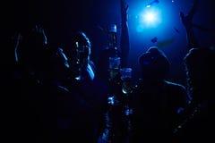 Grillage dans l'obscurité Images libres de droits