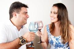 Grillage de couples Photos libres de droits