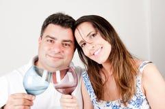 Grillage de couples Images libres de droits
