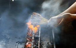 Grillant Maranggi satay Image stock