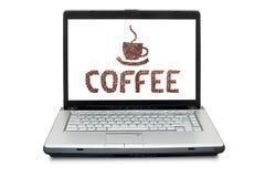 grillat brunt kaffe för bönor arkivfoto